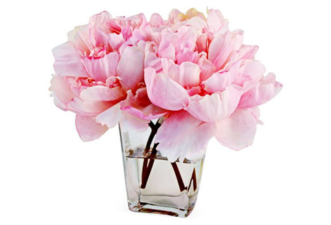 Pink Peonies in Tapered Vase #8037