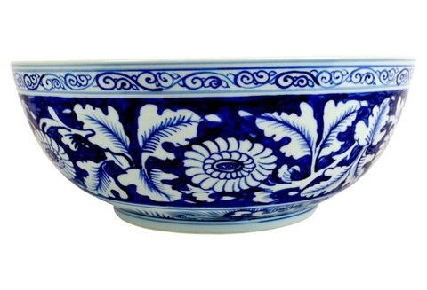 Blue and White Floral Bowl #BWCT114