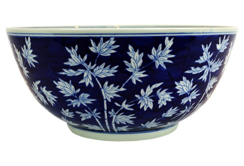 Blue and White Bamboo Pattern Bowl #BWCT115