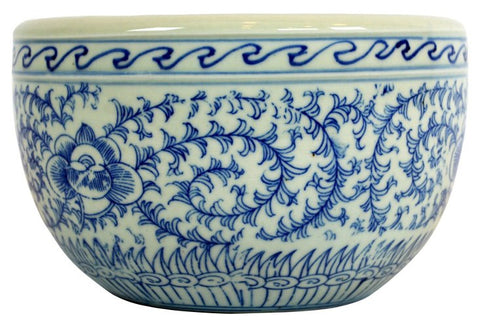 Blue and White Scroll Pattern Bowl #BWCT119