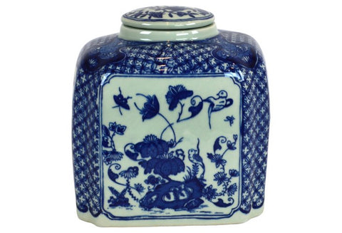 Blue and White Tea Caddy #BWCT128