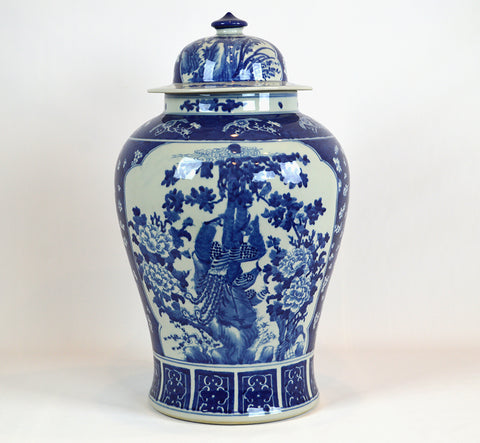 Blue and White Ginger Jar #BWCT129