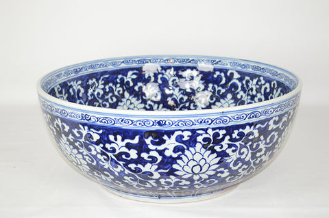 Large Blue and White Bowl #BWCT135