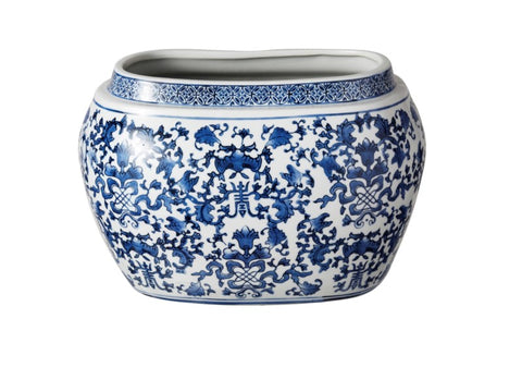 Blue and White Longlife Planter #1CPLA6060BLWH00