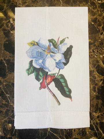 Magnolia Linen Guest Towel, Set of Two