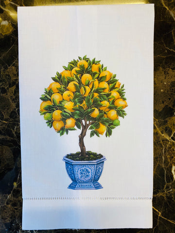 Lemon Tree Guest Towel/Set of Two