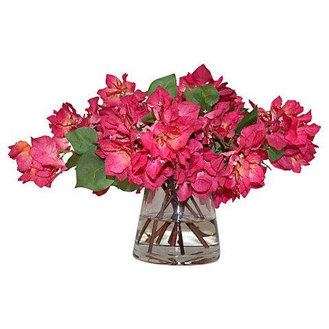 "22"" Bougainvillea in Vase, Faux #FBC9549"