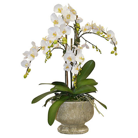 "34"" Orchids Arrangement in Urn, Faux #FBC5876"
