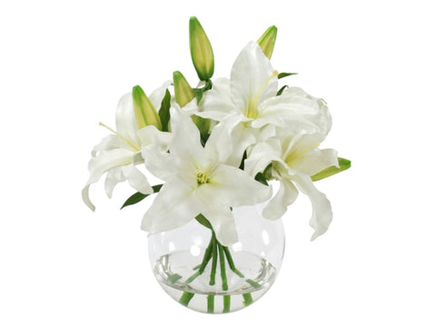 Casablanca Lilies in Bowl #1SDP217WW00
