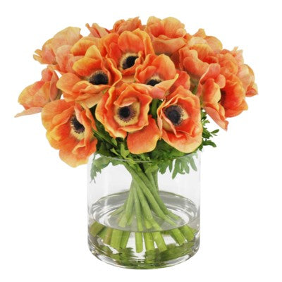 ANEMONE IN SHORT VASE  #SDP239.PC00