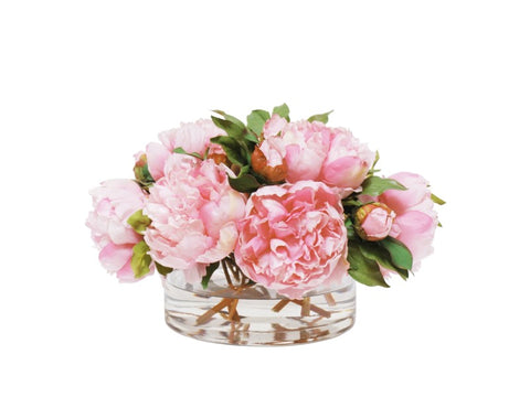 PEONY IN OPEN CYLINDER VASE #9318.PK00