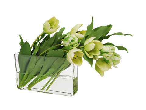 Green Tulips in Profile Vase #9446GRWH00