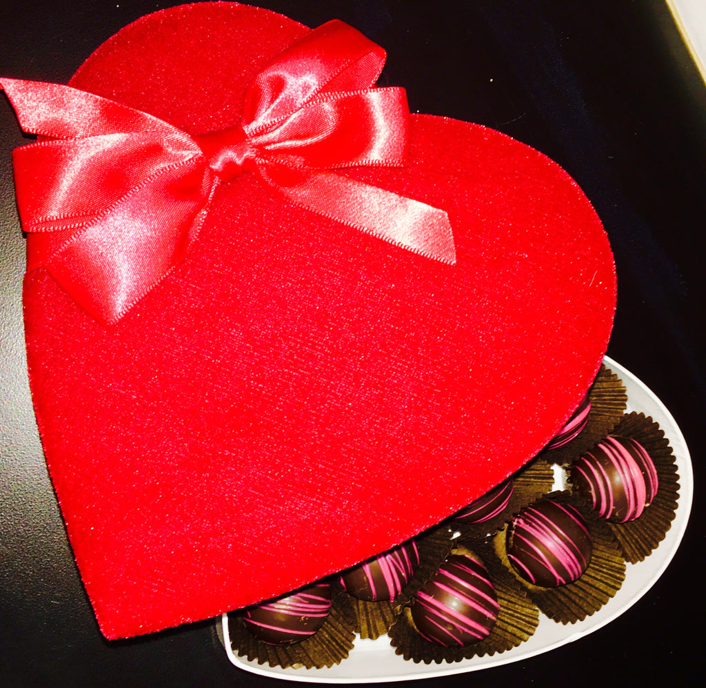 Large Valentine Hearts with Truffles