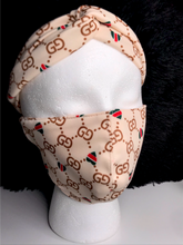 Load image into Gallery viewer, Gucci Designer Inspired Mask Set - Beige
