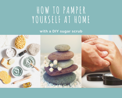 Pamper with a DIY sugar scrub