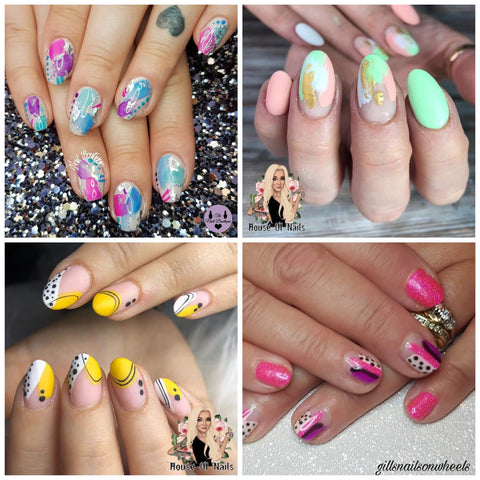 Trending Nail Art | colorful abstract