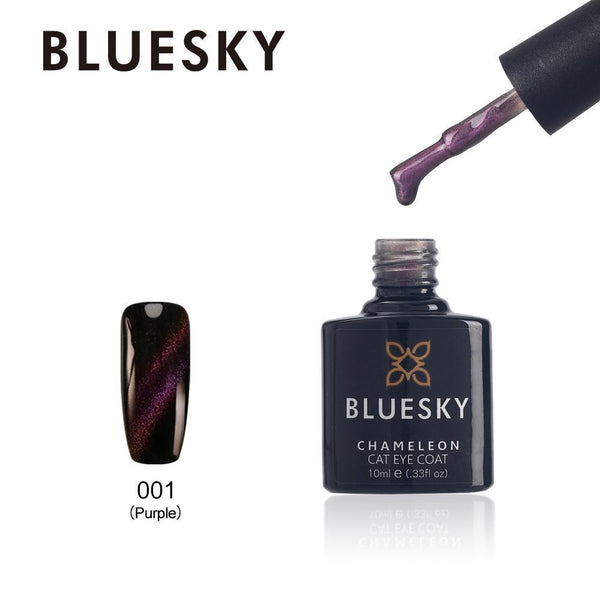 Bluesky Cat Eye Coat 001 Purple  UV/LED Soak Off Gel Nail Polish 10ml