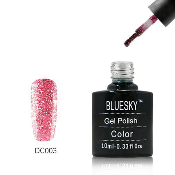 Bluesky DC3 Pink Sparks UV/LED Gel Nail Soak Off Polish 10ml