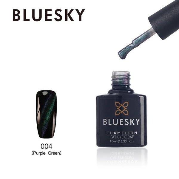 Bluesky Cat Eye Coat 004 Purple Green UV/LED Soak Off Gel Nail Polish 10ml