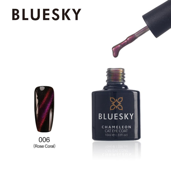 Bluesky Cat Eye Coat 006 Rose Coral UV/LED Soak Off Gel Nail Polish 10ml