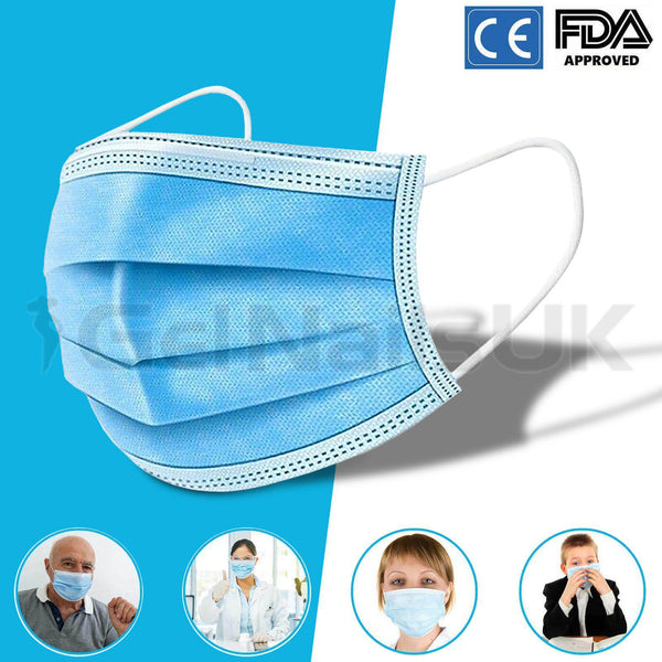 10 x Face Mask Surgical Disposable Mouth Guard Cover Face Masks Respiration