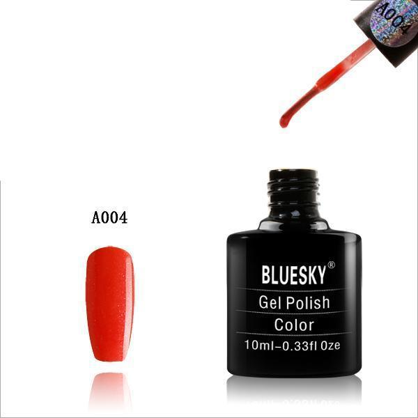 Bluesky A04 Orange Shine UV/LED Soak Off Gel Nail Polish 10ml