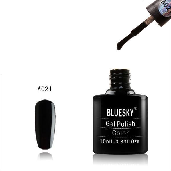 Bluesky A21 Black UV/LED Soak Off Gel Nail Polish 10ml