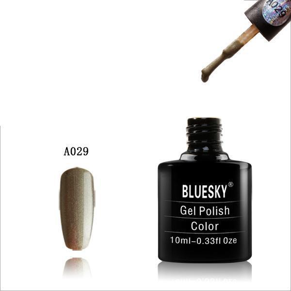 Bluesky A29 Green Shimmer UV/LED Soak Off Gel Nail Polish 10ml