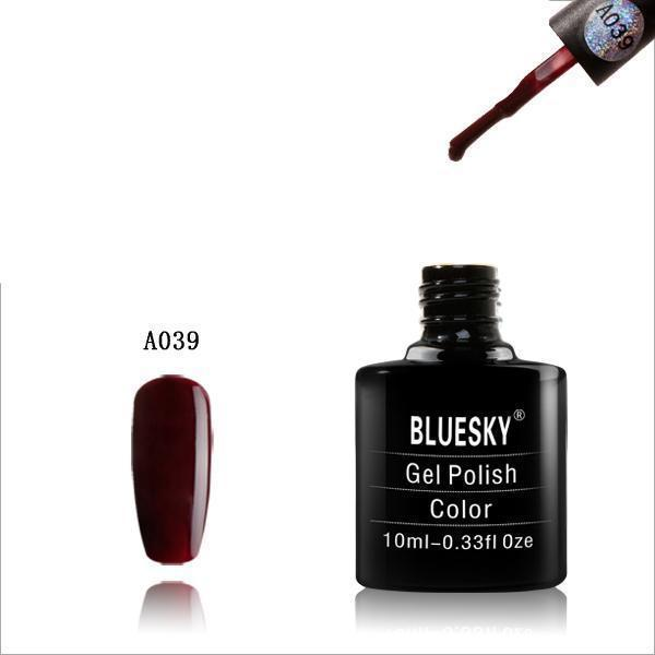 Bluesky A39 Ox Blood Red UV/LED Soak Off Gel Nail Polish 10ml