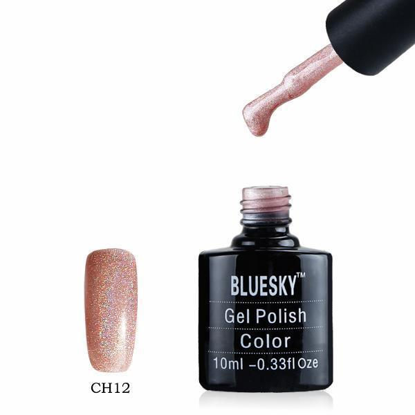 Bluesky CH12 HOLOGRAPHIC GLITTER UV/LED Gel Nail Soak Off Polish 10ml