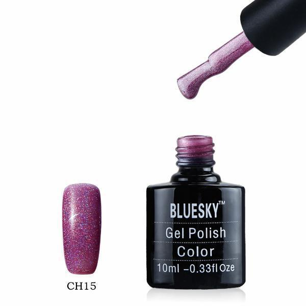 Bluesky CH15 HOLOGRAPHIC GLITTER UV/LED Gel Nail Soak Off Polish 10ml