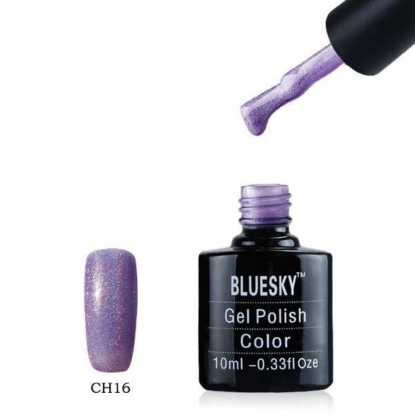 Bluesky CH16 HOLOGRAPHIC GLITTER UV/LED Gel Nail Soak Off Polish 10ml