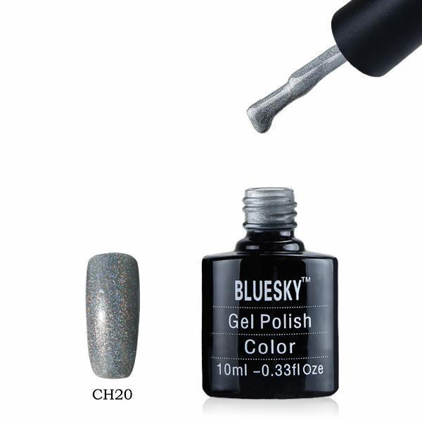 Bluesky CH20 HOLOGRAPHIC GLITTER UV/LED Gel Nail Soak Off Polish 10ml