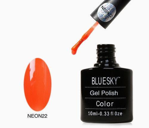 Bluesky Neon 22 Psychedlic Orange UV/LED Gel Nail Soak Off Polish 10ml