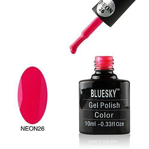 Bluesky Neon 26 Majestic Pink UV/LED Gel Nail Soak Off Polish 10ml