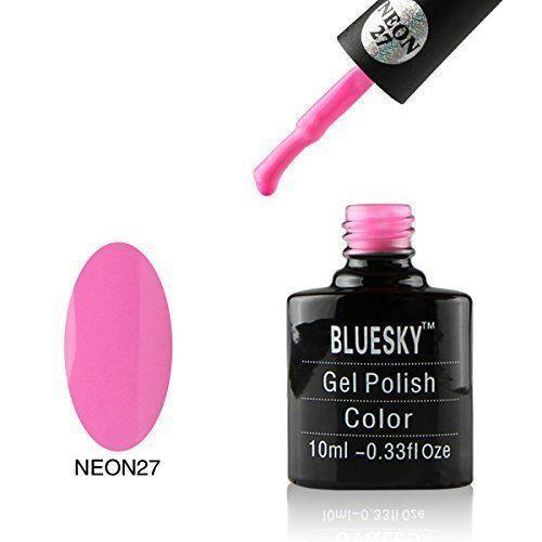 Bluesky Neon 27 Pink Candy UV/LED Gel Nail Soak Off Polish 10ml
