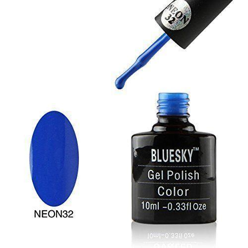 Bluesky Neon 32 Blue Bamboo UV/LED Gel Nail Soak Off Polish 10ml