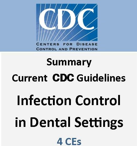 Infection Control: Current CDC Guidelines & Checklist: 4 CEs here