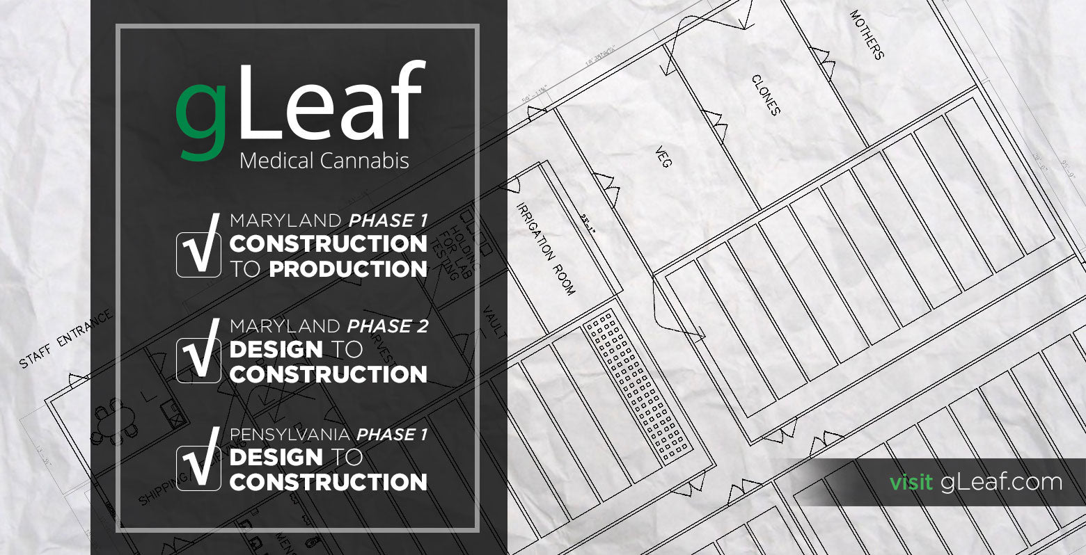 gLeaf Medical Cannabis Construction to Production