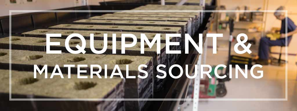 Equipment and Materials Sourcing