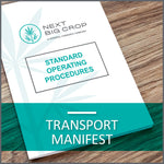 Transport Manifest D-RPC-SOP-003