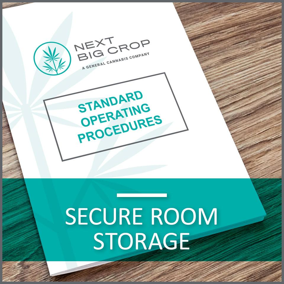 Secure Room Storage D-SSC-SOP-001