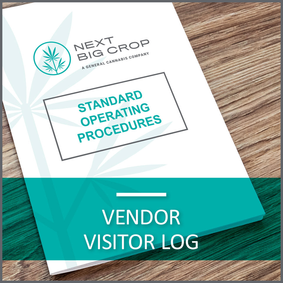Vendor Visitor Log D-VIS-SOP-001