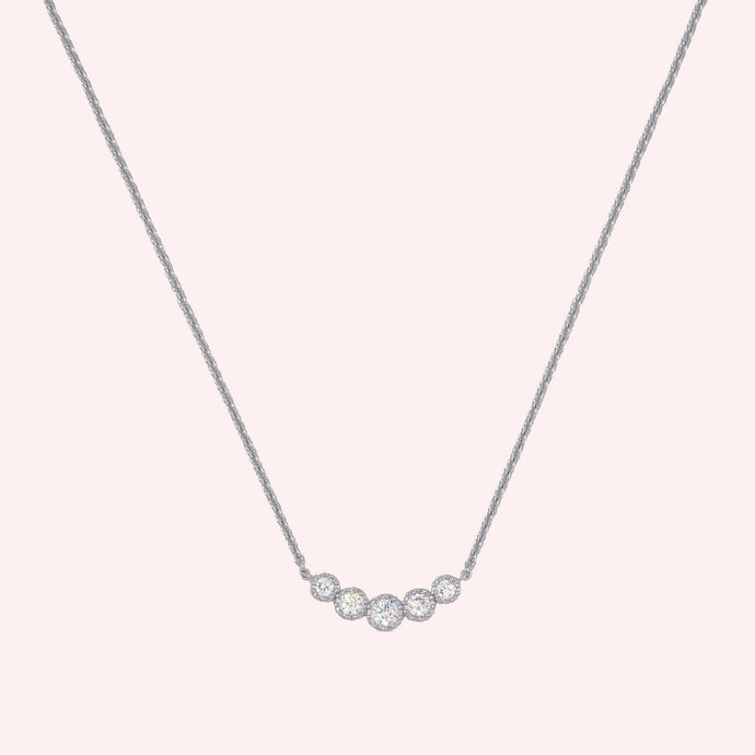 Cinq Necklace - Silver