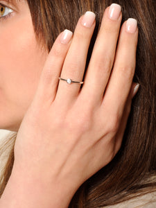 Silver Dainty Solitaire