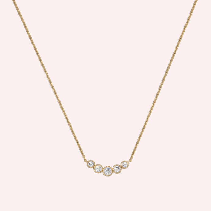 Cinq Necklace - Gold