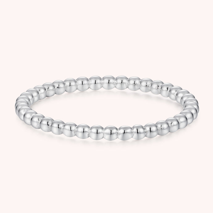 Silver Beaded Band