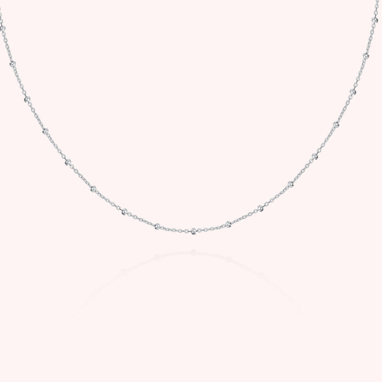 Silver 2-in-1 Long Satellite Necklace
