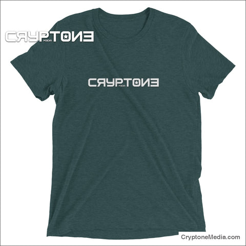 Premium Cryptone Media Logo T-Shirt - Fast Free Shipping In The Usa! Emerald Triblend / Xs