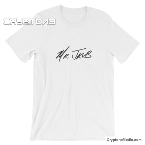 Mrjkub Chrome Logo Sig 2019 Short-Sleeve Unisex T-Shirt White / S
